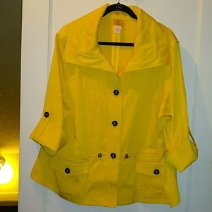 💐Short yellow trench coat size 20w